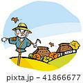 田舎 案山子 秋のイラスト 41866677