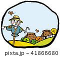 田舎 案山子 秋のイラスト 41866680