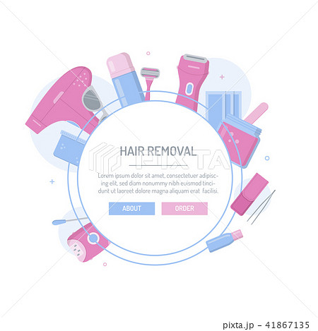 hair removal templateのイラスト素材 41867135 pixta