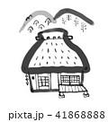 藁葺き屋根 田舎 家のイラスト 41868888