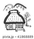藁葺き屋根 田舎 家のイラスト 41868889