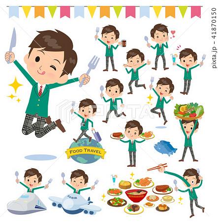 school boy Green Blazer_food festival 41870150
