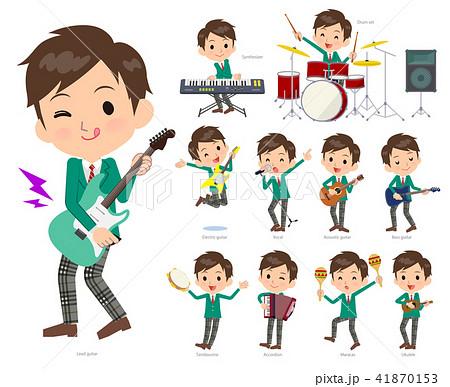 school boy Green Blazer_pop music 41870153