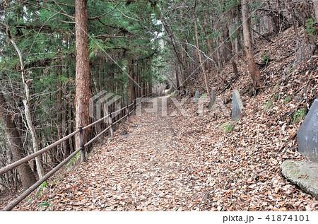群馬の吹割の滝の山道を歩く、田舎の散歩道 41874101