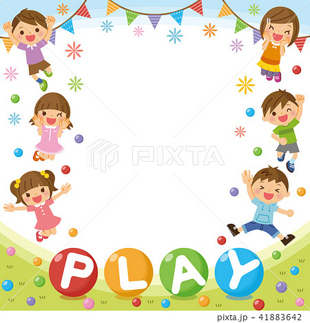 子供たちのフレーム「PLAY」 41883642