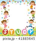 フレーム 子供たち 勉強のイラスト 41883645