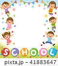 フレーム 子供たち 学校のイラスト 41883647