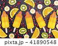 Fruit popsicles ice cream on black 41890548
