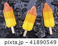 Fruit popsicles ice cream on black 41890549