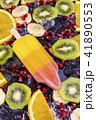 Fruit popsicles ice cream on black 41890553