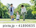 家族 公園 新緑の写真 41890635