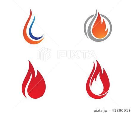 fire flame logo templateのイラスト素材 41890913 pixta