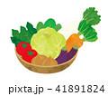野菜 カゴ かご イラスト 収穫 41891824