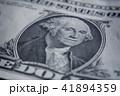 US Dollar bill, super macro, close up photo. Details of bills. 41894359