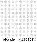 雪の結晶100個セット-01■素材・スノーフレーク・グレー 41895258