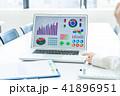 ノートパソコン ノートPC テーブルの写真 41896951