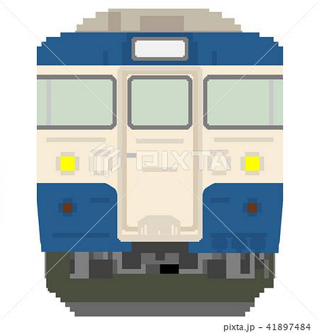 ドット絵風の電車(115系:横須賀線色) 41897484