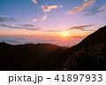 夜明け 雲海 山頂の写真 41897933