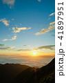 夜明け 雲海 山頂の写真 41897951