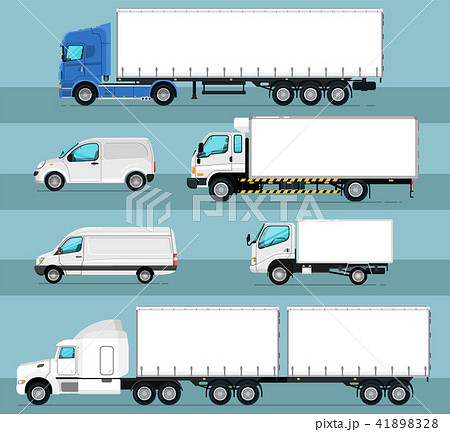 City commercial transport isolated set 41898328