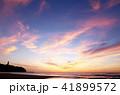 朝焼け雲 久慈浜海岸 茨城県日立市 41899572