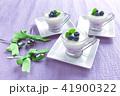 ブルーベリーのレアチーズケーキ 41900322