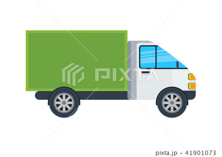 Commercial van isolated icon 41901073