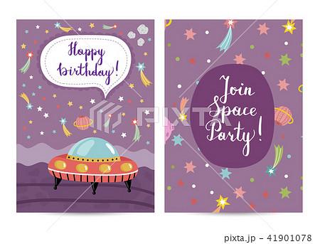 invitation on children costumed birthday partyのイラスト素材