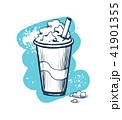ミルクセーキ shake 振るのイラスト 41901355