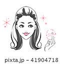 女性 化粧 ビューティーのイラスト 41904718