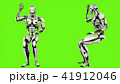 Robot android is asking question. Realistic looped motion on green screen background. 3D Rendering. 41912046