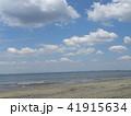 稲毛海岸の白い波と青い海 41915634