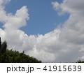 夏の青空と白い雲 41915639