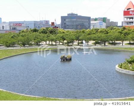 習志野市サクラ広場のカルガモ池の巣箱 41915641