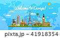 Welcome to Europe poster with famous attractions 41918354