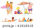 ビーチ 浜辺 人々のイラスト 41918418
