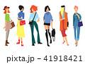 ファッション 流行 ポートレートのイラスト 41918421