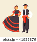 Spanish costume vector 41922876