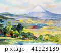 水彩画 透明水彩 ふじのイラスト 41923139