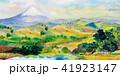 水彩画 透明水彩 ふじのイラスト 41923147