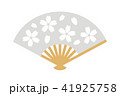 桜柄の扇子 41925758