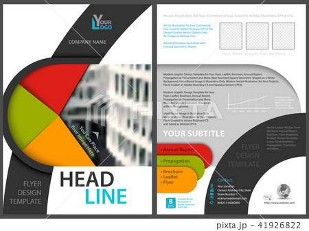 flyer template with modern geometric graphicsのイラスト素材