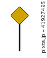 Blank yellow road sign template 41927495