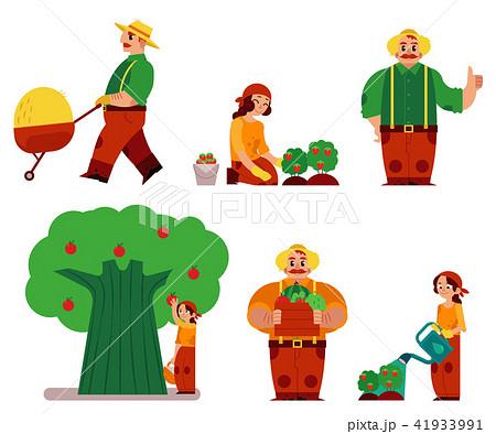 Vector farmer women, man in professional uniform 41933991
