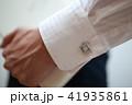 カフスボタン (ボディパーツ 顔なし 人物 会社員 ワイシャツ 役職 社長 コピースペース 手) 41935861