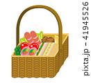 ランチ ランチボックス バスケットのイラスト 41945526