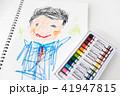 お父さん 似顔絵 子供の絵の写真 41947815