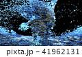 Blue water surface splashing, 3D Rendering. 41962131