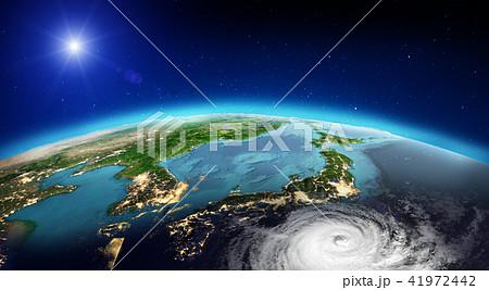 Japan tornado. 3d rendering 41972442