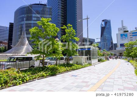 名古屋市中村区都市風景 名古屋駅前 歩道 41975280